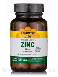 Country Life - Zinc - 180 Tablets