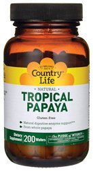 Country Life - Tropical Papaya - 200 Chewable Wafers