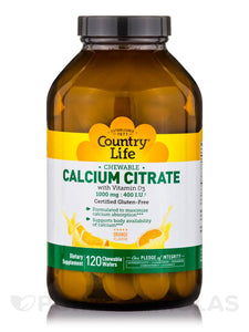 Country Life - Chewable Calcium Citrate Orange - 120 Wafers
