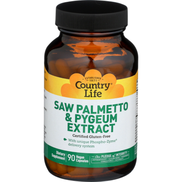 Country Life - Saw Palmetto & Pygeum Extract - 90 Vegan Capsules