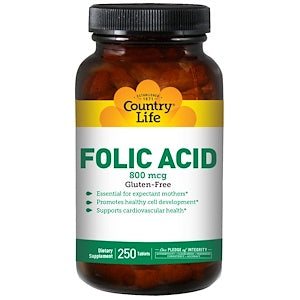 Country Life - Folic Acid 800 mcg 100 tablets