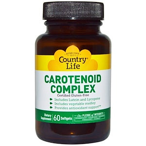 Country Life - Carotenoid Complex - 30 softgels