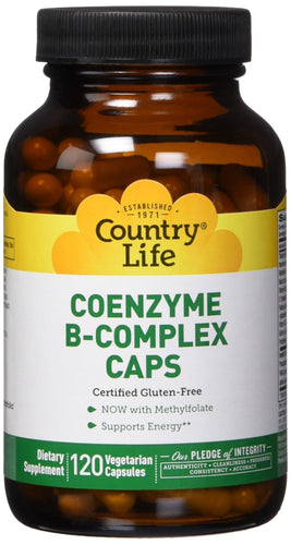 Country Life - Coenzyme B-Complex - 120 Vegan Capsules