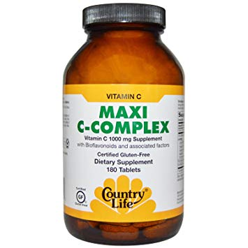 Country Life - Maxi C-Complex - 180 Tablets