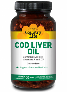 Country Life - Cod Liver Oil - 100 Softgels