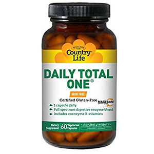 Country Life - Daily Total One Iron-Free - 60 Vegan Capsules