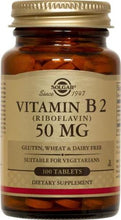 Solgar - Vitamin B2 (Riboflavin) - 100 Tablets and/or Vegetable Capsules