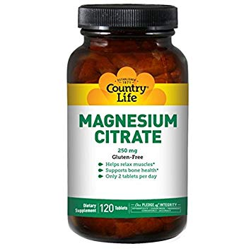 Country Life - Magnesium Citrate - 120 Tablets
