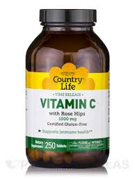 Country Life - Time-Release Vitamin C - 250 Tablets