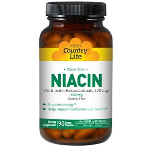Country Life - No Flush Niacin 400mg