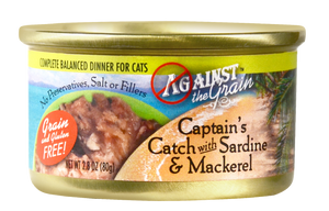 Against the Grain Captain's Catch with Sardine and Mackerel Canned Cat Food