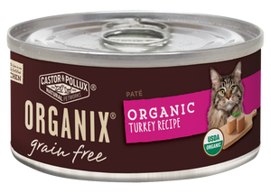 Castor and Pollux Organix Grain Free Organic Turkey Recipe Canned Cat Food
