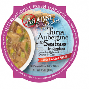Against the Grain Tuna Aubergine with Seabass and Eggplant Dinner Canned Cat Food