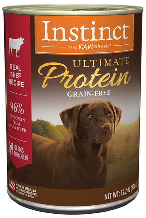 Nature's Variety Instinct Ultimate Protein Grain Free Beef Formula Canned Dog Food