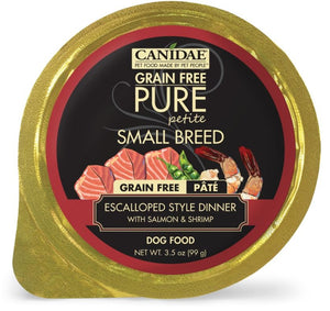Canidae Grain Free PURE Petite Small Breed Escalloped Style Dinner Pate with Salmon and Shrimp Wet Dog Food