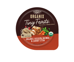 Castor and Pollux Organix Tiny Feasts Organic Chicken, Quinoa, and Carrot Stew Wet Dog Food