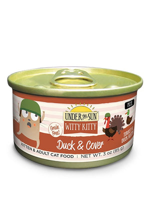 Canidae Under the Sun Witty Kitty: Duck & Cover Grain Free Turkey and Duck Pate Canned Cat Food