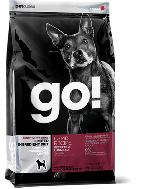 Petcurean Go! Sensitivity and Shine Limited Ingredient Diet Lamb Recipe Dry Dog Food