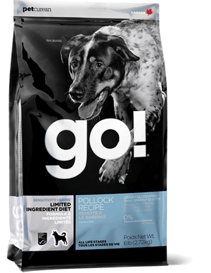 Petcurean Go! Limited Ingredient Diet Sensitivity and Shine Pollock Recipe Dry Dog Food