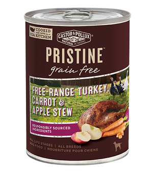Castor and Pollux Pristine Grain-Free Free-Range Turkey, Carrot & Apple Stew Canned Dog Food