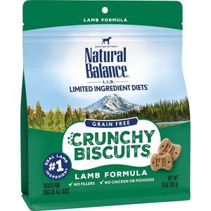 Natural Balance L.I.D. Limited Ingredient Diets Crunchy Biscuits Lamb Formula Dog Treats
