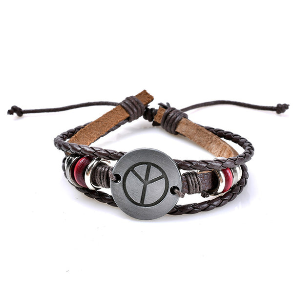 BOHO Peace Unisex Leather Bracelet