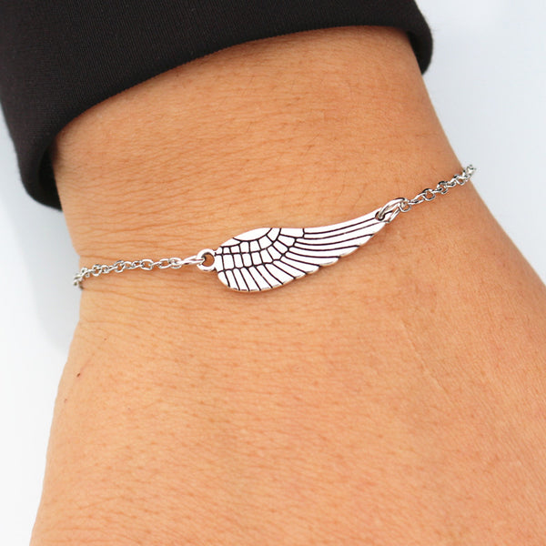 Angel Wings Bangle Bracelet