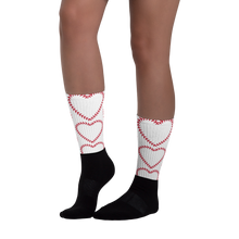 Softball Heart Socks - White