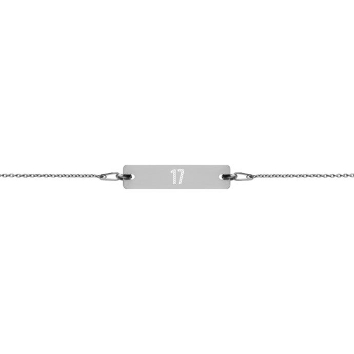 Custom Engraved Silver Bar Chain Bracelet