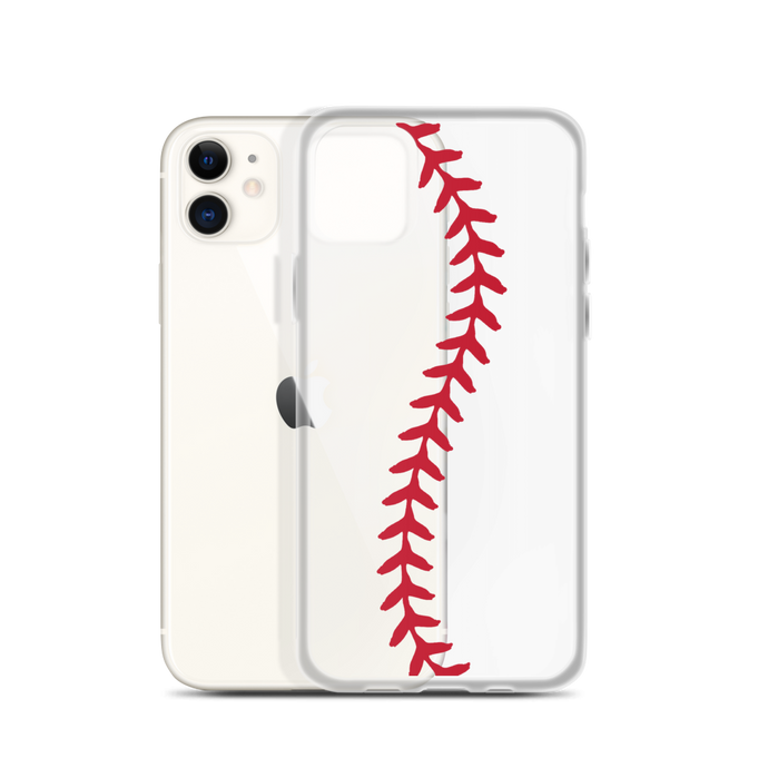 Softball Stitch iPhone Case - Clear