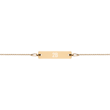 Engraved Bar Chain Bracelet - 2nd Base