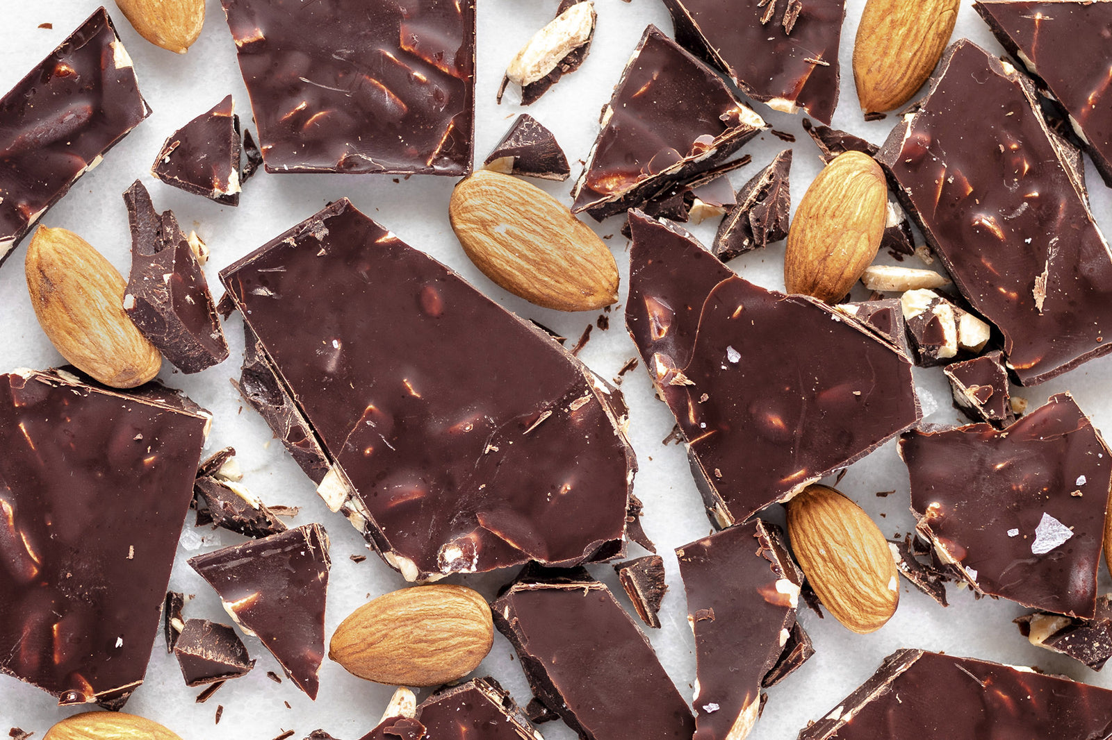 Dark Salted Almonds Banner