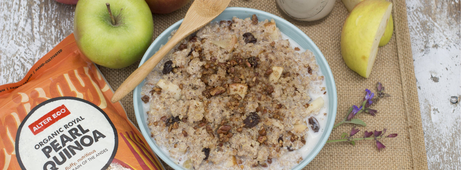 Quinoa Apple Strudel Breakfast Bowl