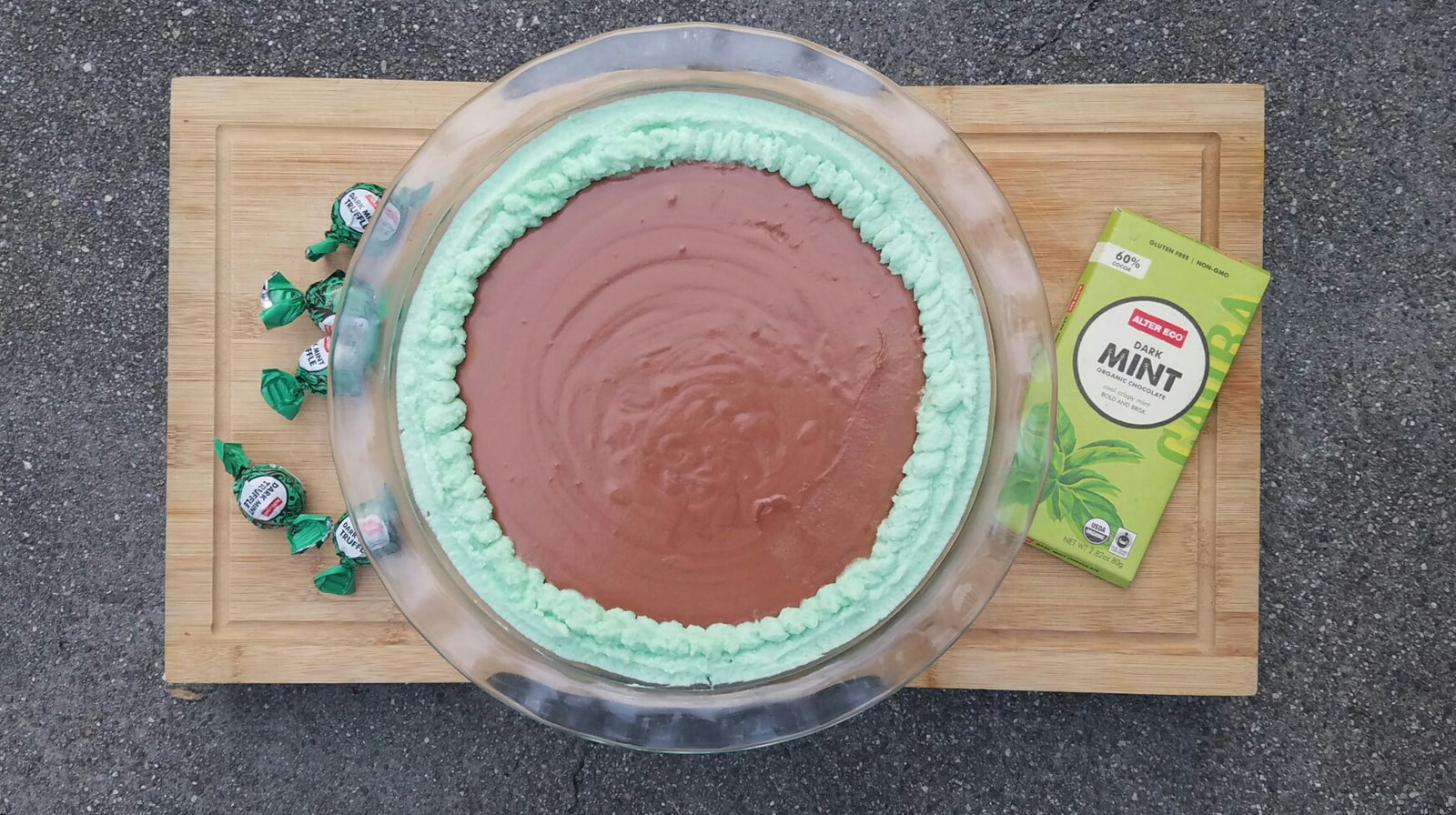 Chocolate Pie with Mint Truffle Graham Cracker Crust Article