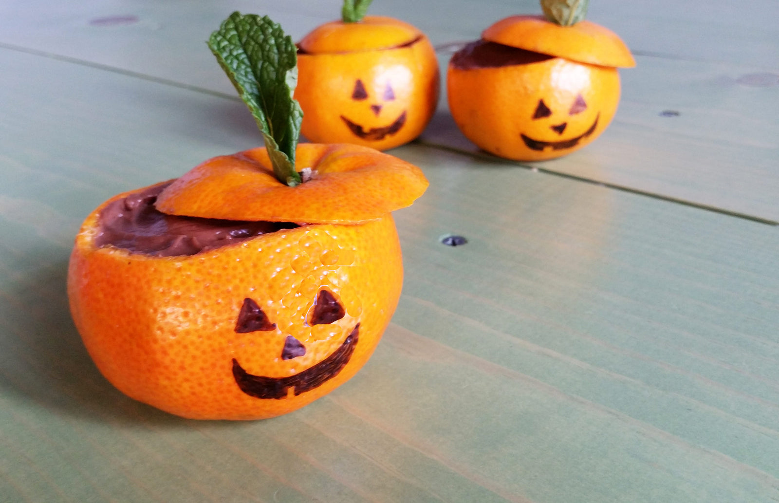 Homemade Chocolate Pudding in Jack O' Lantern Cups Article