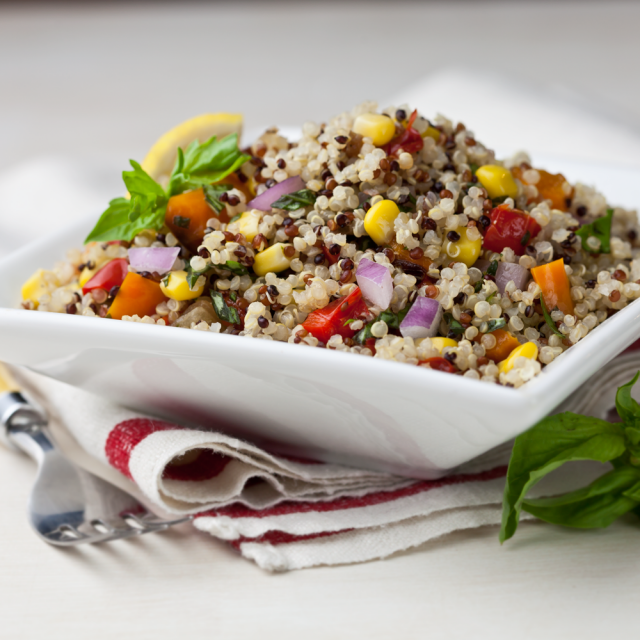 Quinoa Salad with Sweet Corn & Tomato – Alter Eco
