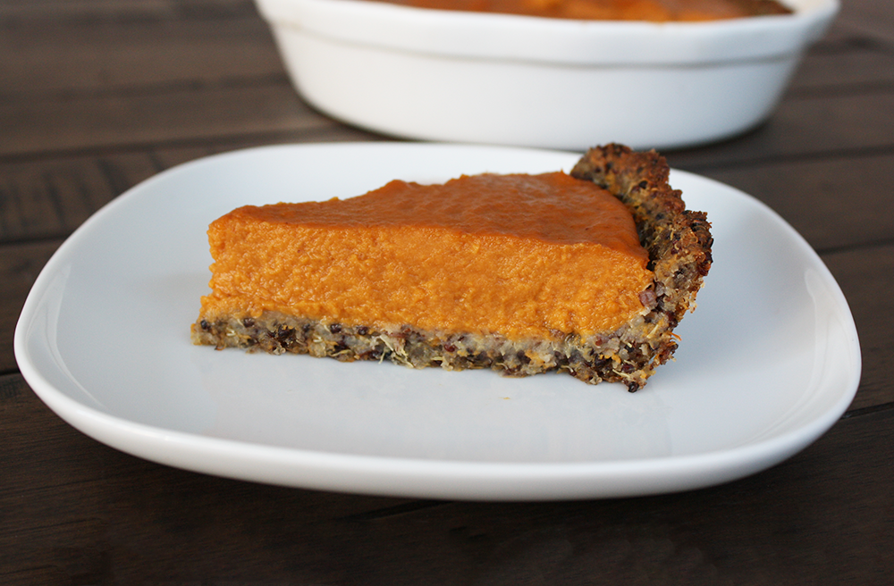 Sweet Potato Pie with Quinoa Crust Article