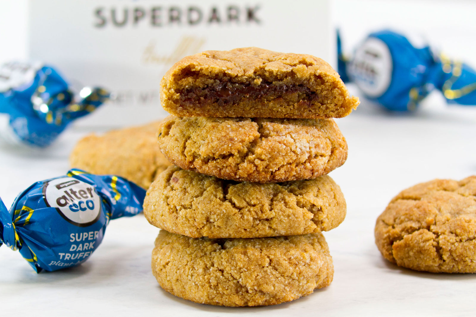 Paleo Superdark Truffle Stuffed Cookies Article