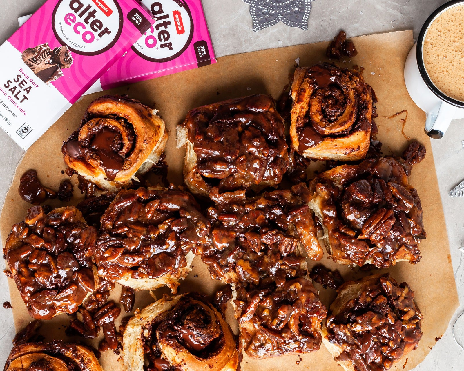 Vegan Salted Chocolate Sticky Buns Article