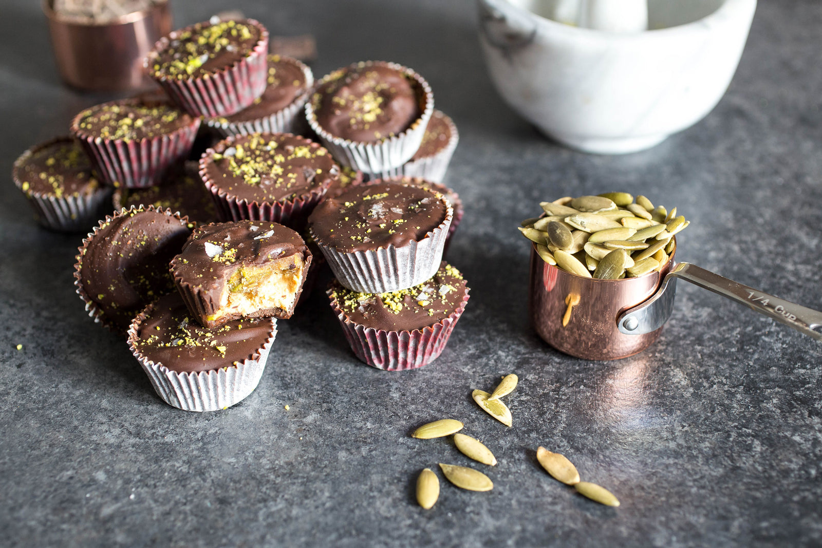 Nutty Chocolate & Caramel Cups Article