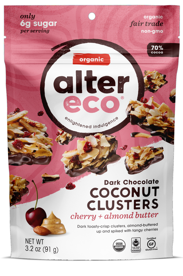 Cherry & Almond Butter Coconut Clusters Package