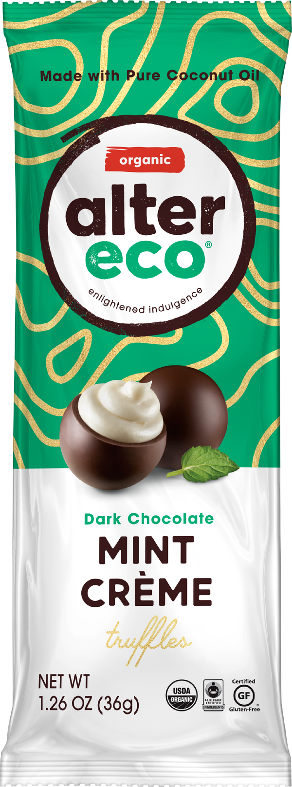 Mint Crème Truffles (3 count) Package