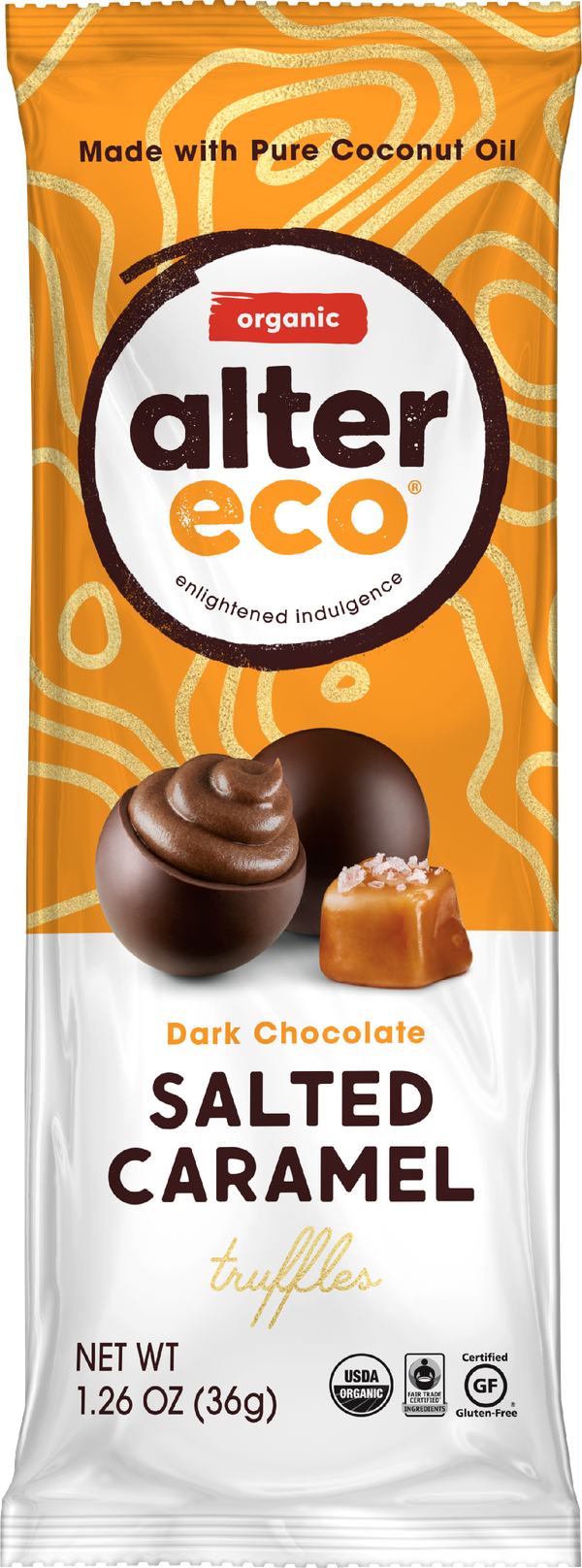 Salted Caramel Truffles (3 count) Package