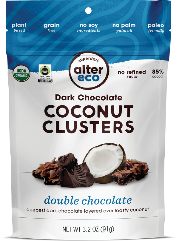 Double Chocolate Coconut Clusters Package