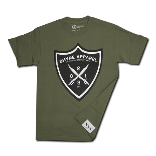 Swords Shield Tee (Army Green)