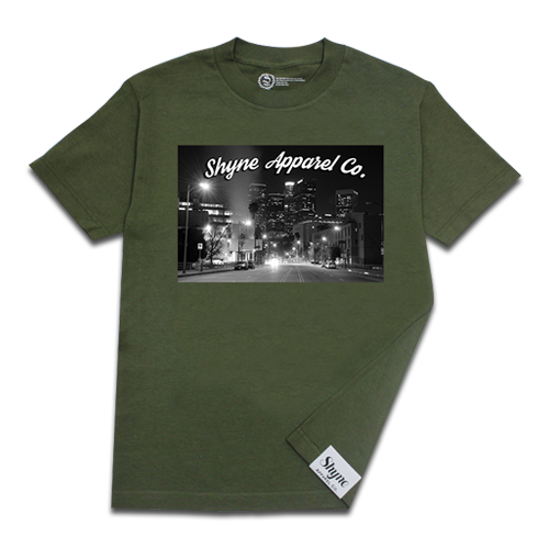 Los Angeles City Lights Tee (Army Green)