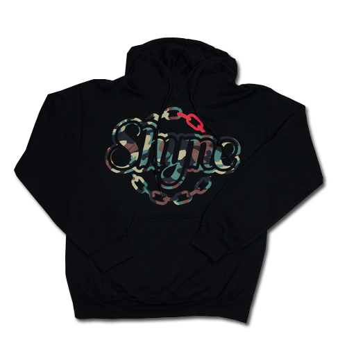 Camouflage Bold Chain Logo Hoodie (Black)