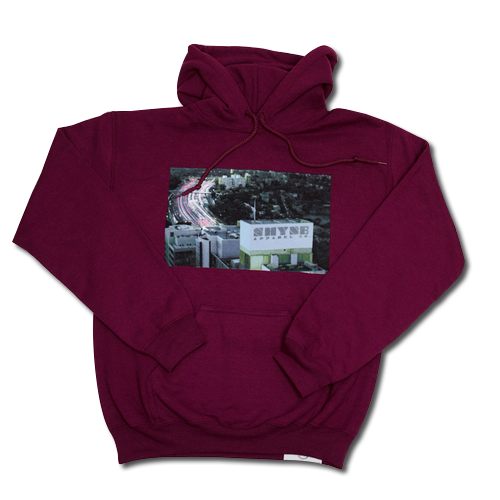 City Freeway Lights Hoodie (Maroon)