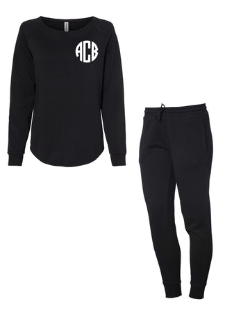 Monogram black lounge set