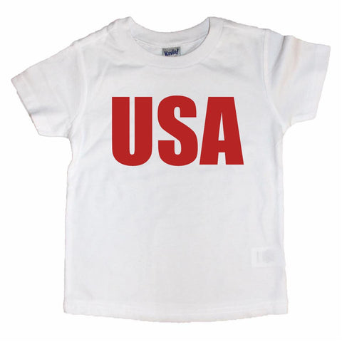 USA Toddler Tee White & Red